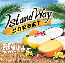 Sets and Sequins - First of the Month Favorites - Sarah Bourne - #2 ISLAND WAY SORBET fresh fruit low fat natural shell ice desserts delicious